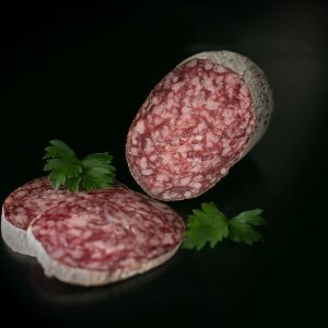 Buffalo salami air-dried with noble mould